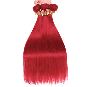 Free Sample BF wholesale indian hair red hair weave virgin cuticle aligned hair tangle free