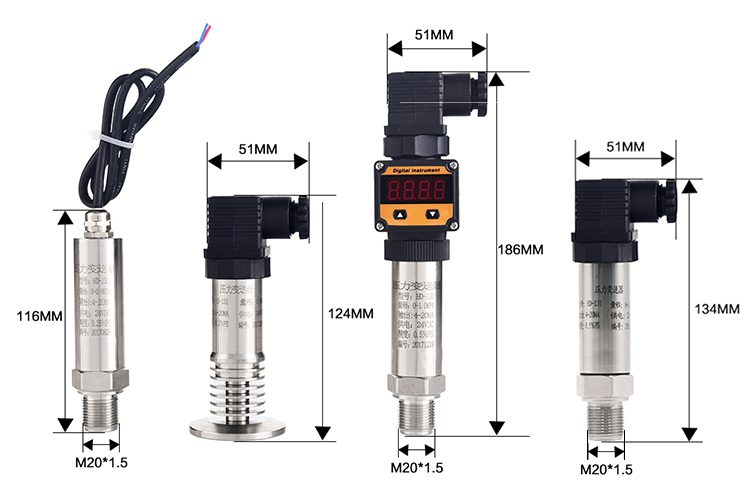 Factory directly supply 4-20mA RS485 Pressure Sensor Pressure Transducer Pressure Transmitter