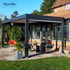 Terrace Louvered Roof Garden Arches Gazebo Outdoor Louvre Awnings Motorized Louvred Aluminium Bioclimatic Pergola