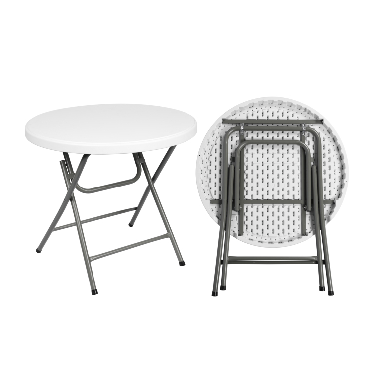 80cm round outdoor HDPE plastic high top bar tables cocktail Folding Tables for Parties