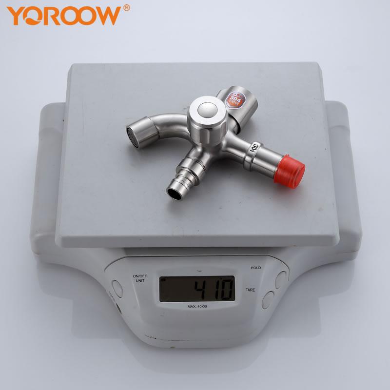 Китайский поставщик, смеситель для стиральной машины двойного назначения из нержавеющей стали 304, многофункциональный двухсторонний кран с двойной ручкой для ванной комнаты