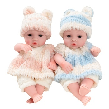 Lovely 10 Inch Realistic Full Body Silicone baby dolls Reborn Soft Silicone Toys baby dolls