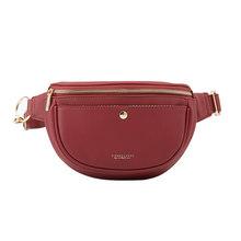 Брендовая Дизайнерская Женская поясная сумка из синтетической кожи, Женская поясная сумка, Женская нагрудная сумка, модные сумки через пле...(Китай)