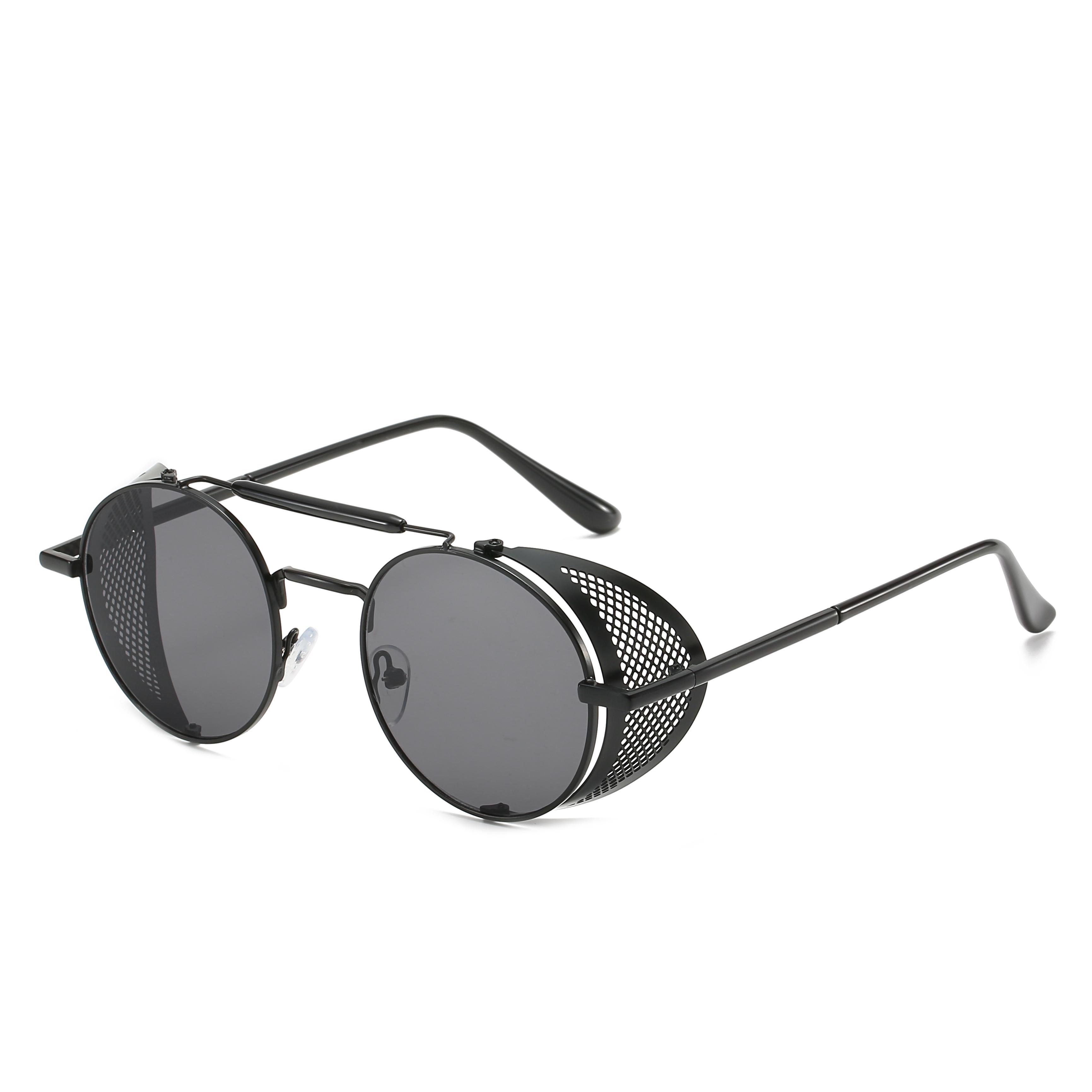 THREE HIPPOS 2020 New Arrivals Sunglasses Man Shades Unique Custom Logo Sun Glasses Fashion Sunglasses UV400 Unisex Black GOLD