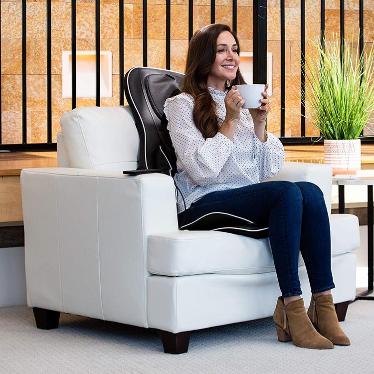 Портативное сиденье для всего тела с подогревом, Массажер-подушка для автомобиля, дома и офиса