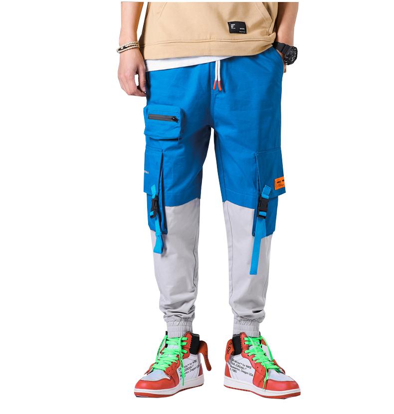 Pantalones Cargo De Hip Hop Para Hombre Ropa De Calle De Moda Europea Pantalones Con Bolsillos Pantalones De Chandal Azules 2019 Buy Los Hombres Pantalones De Pista 2019 Hip Hop Pantalones Streetwear Pantalones Product On