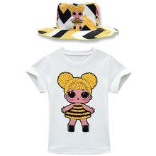 Детские платья для девочек, футболка на сумку на юбку, шапка, перчатки, костюм, одежда для девочек, Lol/комплект одежды для маленьких девочек, о...(Китай)