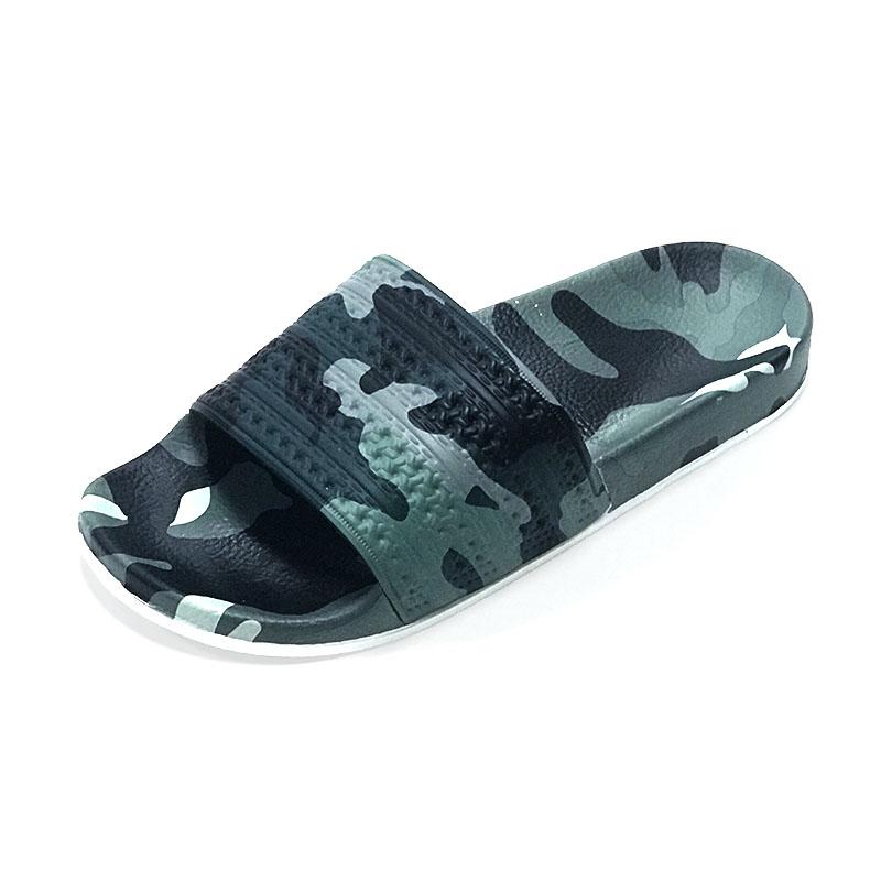 Custom Flat beach sandal shoes,latest design men PU sandals custom slides,quality slippers men slide sandals 2020