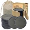 20 piezas de carbón de bambú + bolsa de malla + bambo tarro + caja de papel