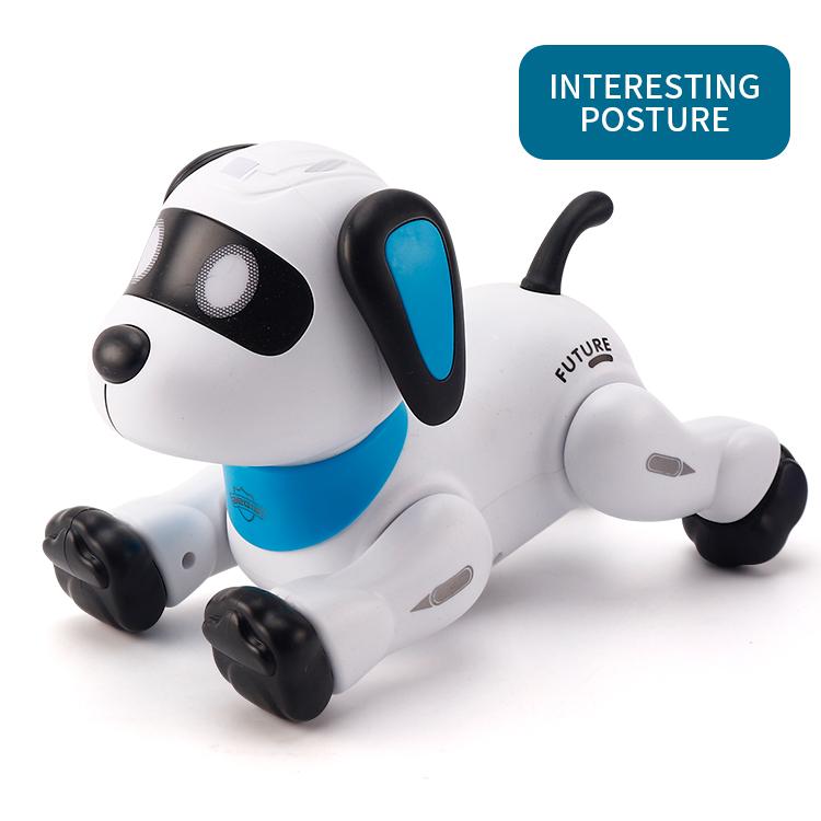 Детская танцевальная электронная собака с дистанционным управлением для мальчиков, Роботизированная трюковая собака, программируемая радиоуправляемая игрушка-робот
