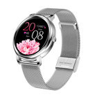 Watch MK20 Smart Watch Women Super Slim Beauty 1.1inch Full Touch BP PPG Heart Rate Female Physiological Cycle Smartwatch KW10