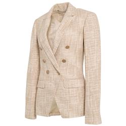 Huiquan, высокое качество, Лучшая цена, двубортный твидовый пиджак для женщин, Повседневный Женский твидовый блейзер
