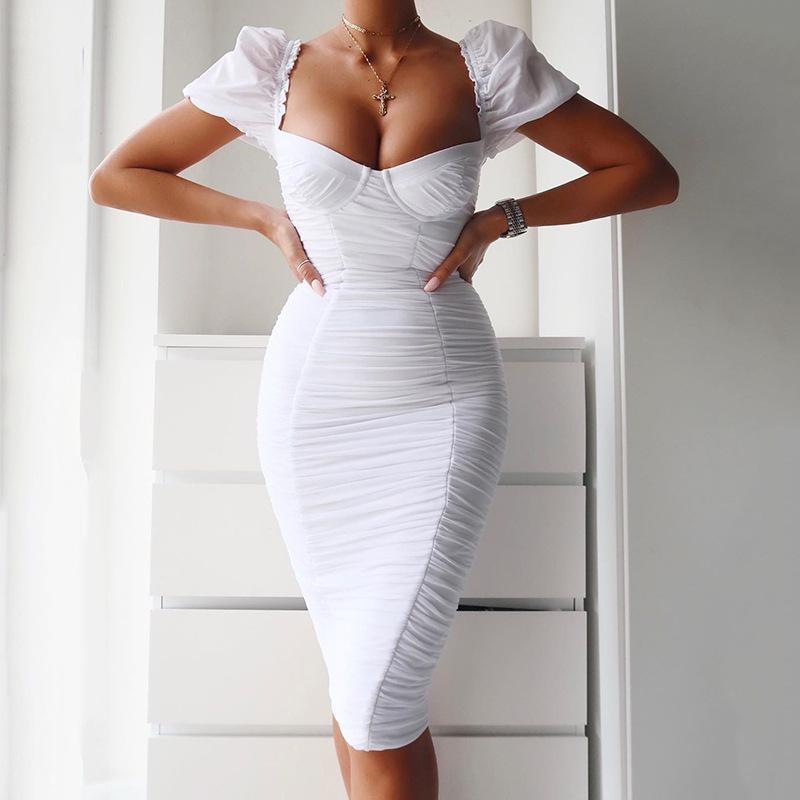 Großhandel weißes kleid kurz eng Kaufen Sie die besten weißes