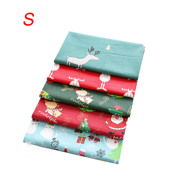 5PCS Christmas Quilting Fabric 100% Cotton for DIY Sewing Christmas Series Handmade Patchwork