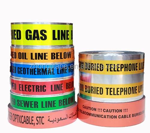 Подземный детектируемый волоконно-оптический кабель сигнальная лента