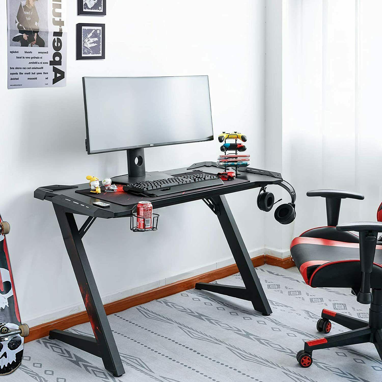 Computer Desktop Table Game Professional Internet Cafe Gaming Table Computer Table Gaming Desk With LED Lights