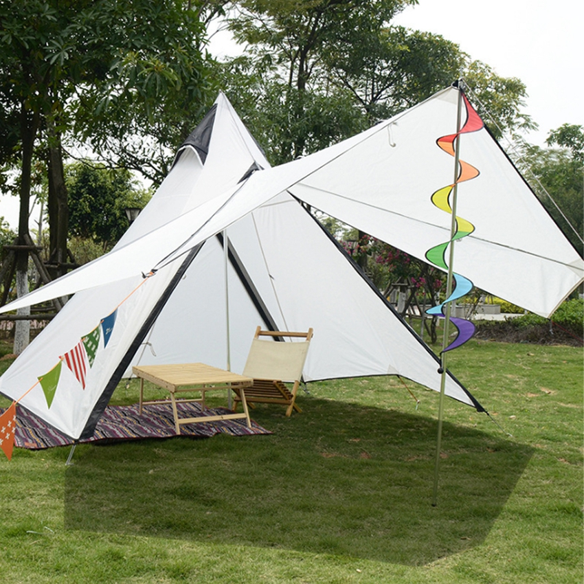 Factory supply popular waterproof 6m luxury glamping tipi tent with stove hole