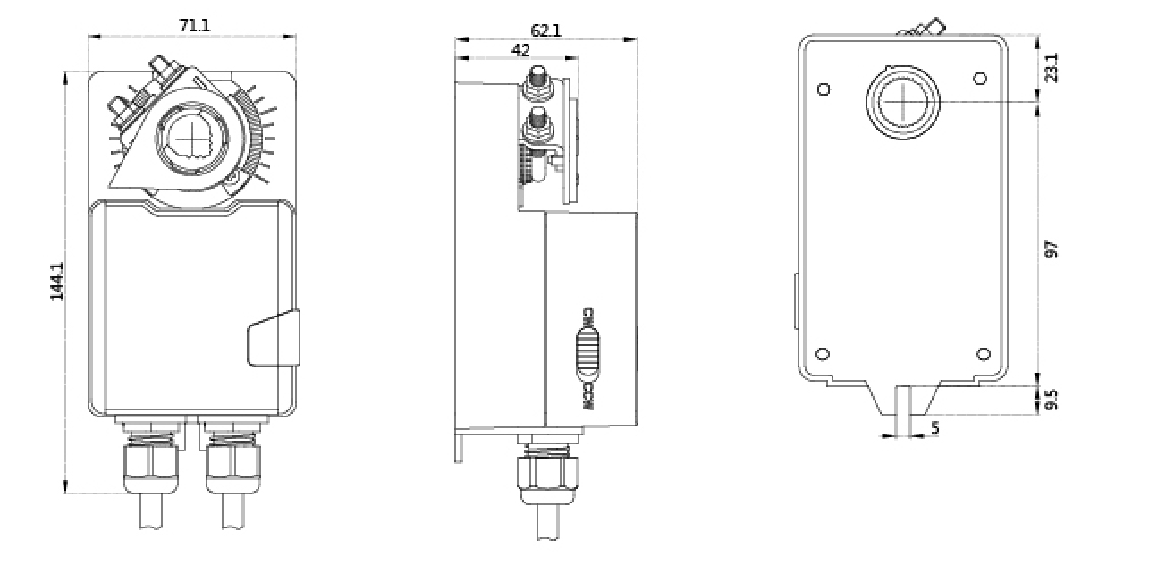 Good Quality 230V HVAC system 5Nm damper actuator