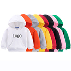 Baby Children Pullover Sweatshirts Unisex Solid Color Custom Logo Printing Kids Baby Boys' Hoodies