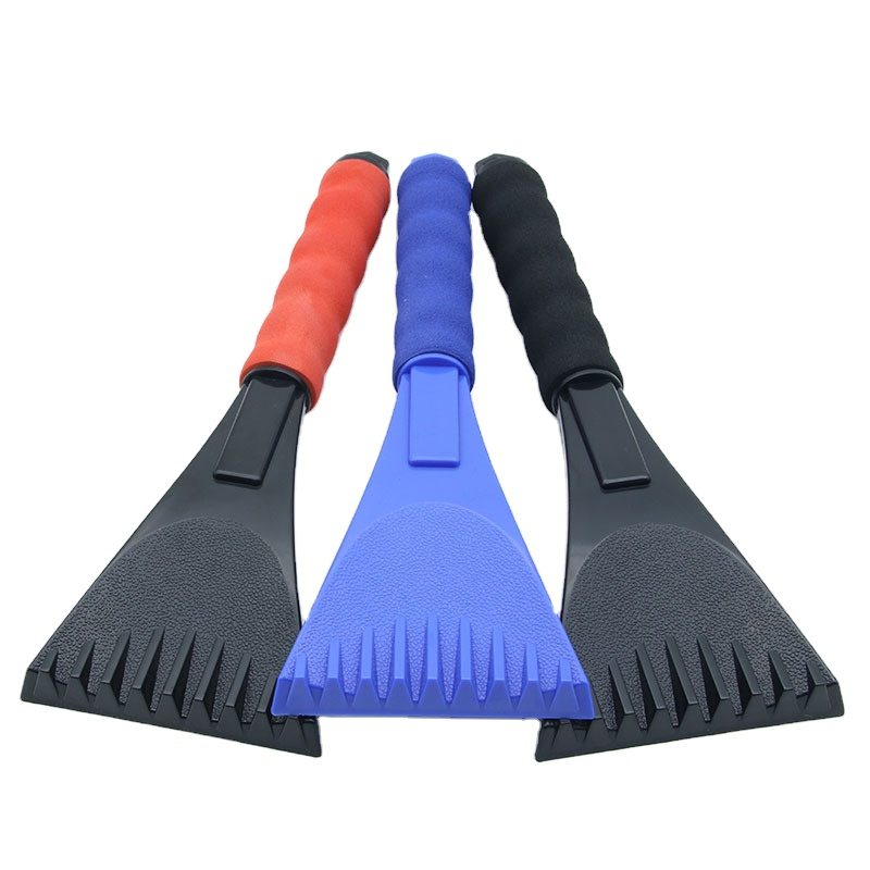 Best Sell Mini Snow Brush Plastic Ice Scraper Squeegee With EVA Handle For Car/Windshield