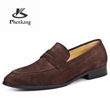 Мужская кожаная обувь; Деловые модельные туфли; Мужские брендовые туфли из натуральной кожи Bullock; Черные замшевые свадебные мужские туфли б...(Китай)