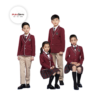 high quality design logo kindergarten school girl uniform school