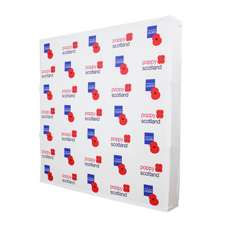 drop shipping exhibition tension fabric backdrop pop up display banner stand with custom logo