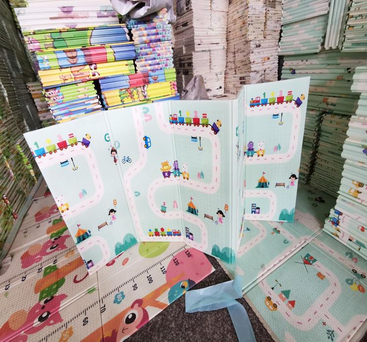 Двусторонний двухсторонний дизайнерский Складной Безопасный плотный пенопластовый напольный детский коврик для ползания детский игровой коврик