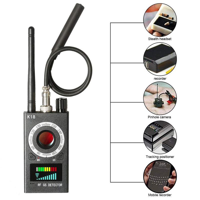GPS אות עדשת RF Tracker מיני מצלמה נסתרת גלאי נייד עדשת Finder GSM מרגלים באג גלאי