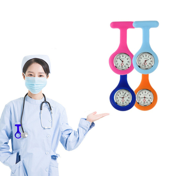 2020 High Quality Silicone nurses pin watch doctor Medical watches Nursing Pendant Pocket nurses breast watch