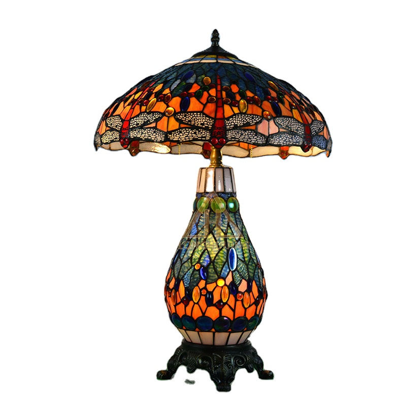 Tiffanylamps Stained Gl Table Lamp