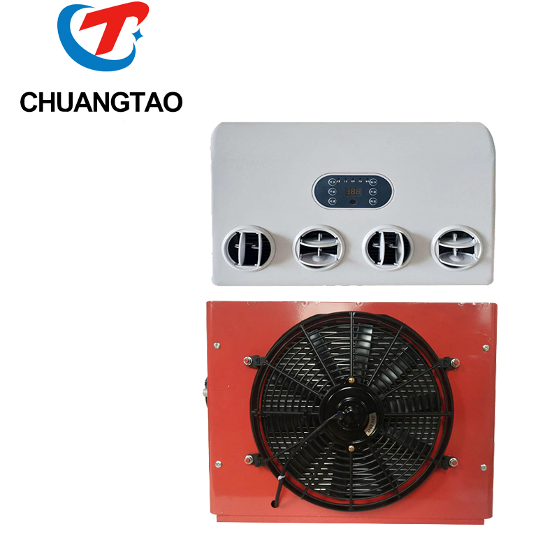 Wholesale 800w battery power electric truck cabin air conditioner 24v for caravan tractor
