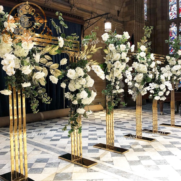 Rectangle Golden Material Party Flower Wall Backdrop Wholesale Event Decor Buy Wedding Decoration Materials Product On Alibaba Com