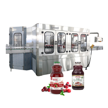 Glass bottle filling and capping machine for juice making production line