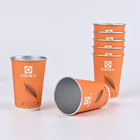 Coffee Take Away Coffee Cups Wholesale Disposable 8oz/10oz/12oz/16oz Double Wall Paper Cup Drink For Tea And Coffee