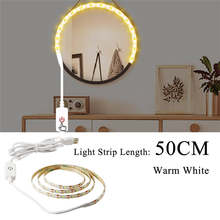 5V светодиодный зеркальный светильник для макияжа s светодиодный косметический светильник Настенный светильник с питанием от USB бесступенч...(Китай)