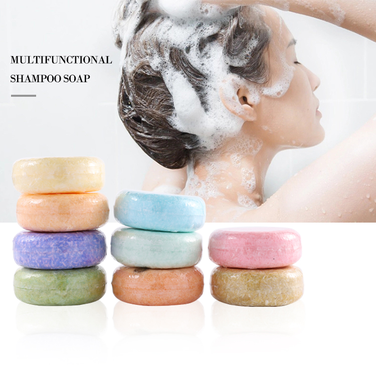 New Arrival Muti- kinds Organic handmade Hair Care Cleaning Shampoo Soap Bar with Tin Box