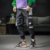New men Loose Falling feeling Big pocket Harem pants fashion Handsome boy Leisure Beam foot Cargo pants