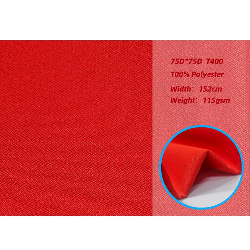 Низкая цена, отличный глянцевый полиэстер 75D, сломанная саржевая ткань, устойчивая к морщинам ткань для модной одежды