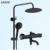 Rainfall wall mounted top and hand shower set brass Wall-mount Bath Tub Rain-style Shower Faucet