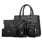 Bag Hand Bags 2021 Wholesale Cheap 5 Piece Set Pu Leather Key Case Cartera Tote Bag Handbag Hand Bags With Custom Logo