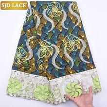 SJD кружево Новое поступление Воск гипюр шнур кружевная ткань вышивка цветок африканская кружевная ткань Высокое качество нигерийская Свад...(Китай)