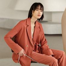INMAN, осень 2020, Новое поступление, однотонный двубортный костюм с карманами и лацканами, повседневный простой костюм(Китай)