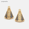 Gold plated earrings-8