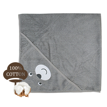 Factory custom 100% cotton baby hooded bath towel for kids