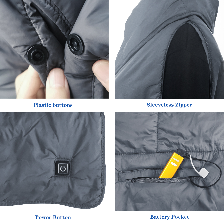 Теплое электрическое одеяло, шаль с подогревом, шаль с аккумулятором, беспроводная шаль с USB, жилет с подогревом и одеяло с подогревом