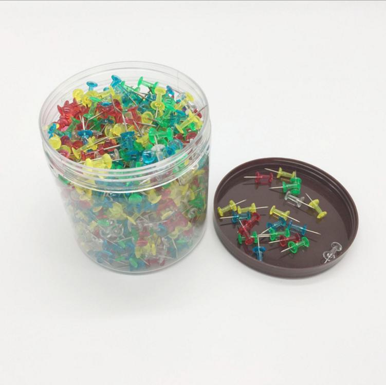 Amazon Лидер продаж пластик круглая голова карта Шпильки Мяч Thumbtack