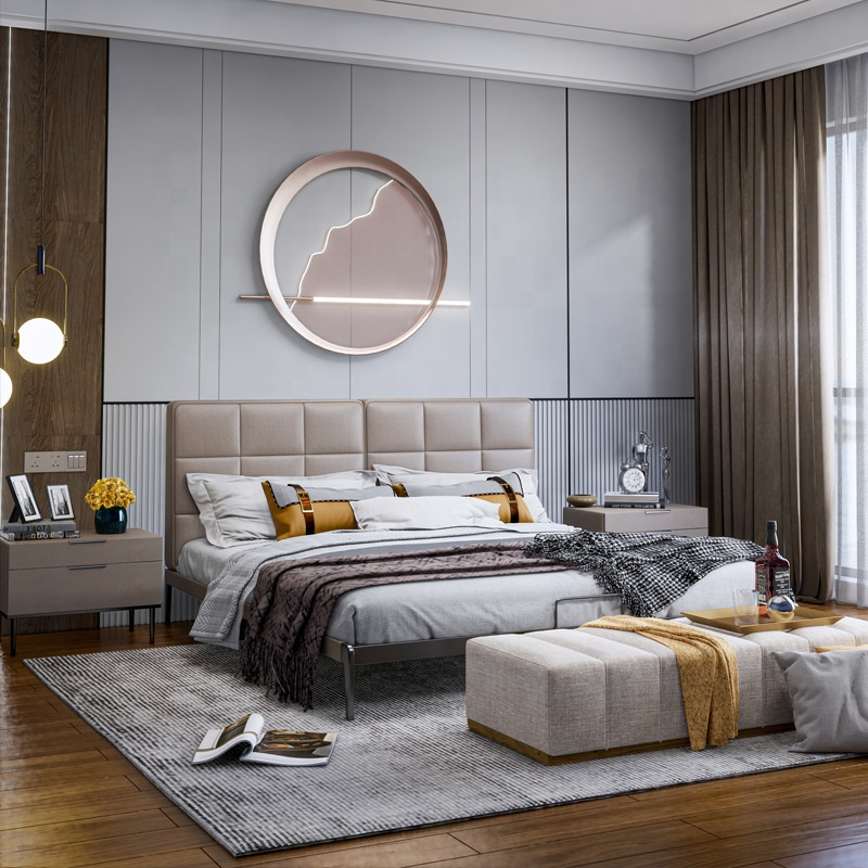 Cheap Beautiful Modern Bedroom Furniture King Size Bed - Buy