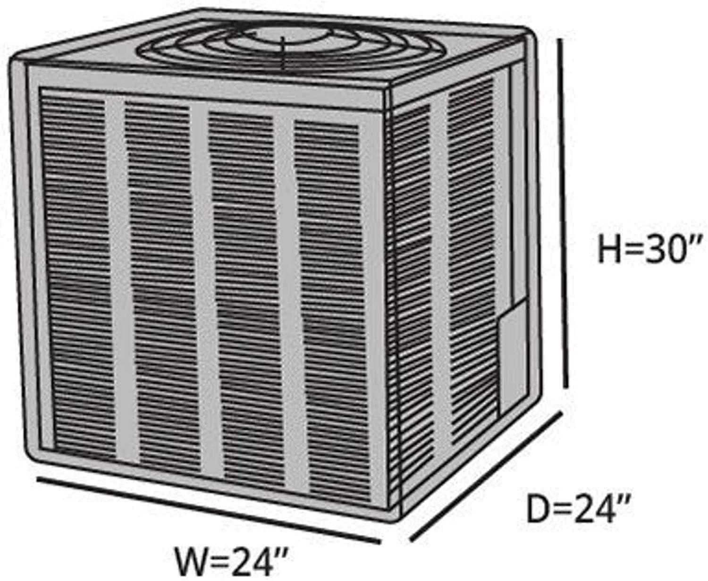 Черный водонепроницаемый декоративный Регулируемый Чехол для кондиционера