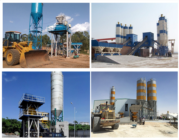 China Professional Building Material Machinery Batching Plant Concrete Mixing Plant For Sale